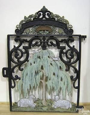 Philadelphia cast iron gate mid 19th c
