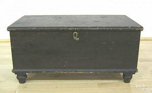 Pennsylvania painted pine document box early 19th c