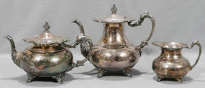 120380 COMMUNITY SILVER PLATE ASCOT PATTERN TEA SET