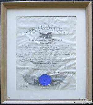 Presidential appointment signed by William McKinley