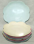 0454 RS PRUSSIA PORCELAIN DESSERT PLATES EARLY 20TH
