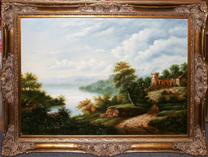 22394 ENGLISH OIL ON CANVAS LATE 20TH C 30 X 40