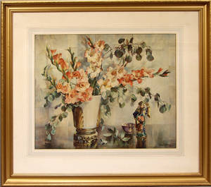 021539 AFTER CECIL GOLDING PRINT STILL LIFE WITH VA
