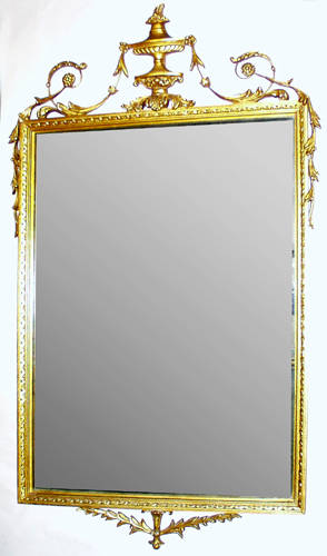 010436 FRENCH STYLE GILT MIRROR H 43 W 26