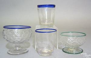 Two blown clear glass tumblers late 18th c