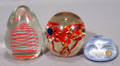 121553 CRYSTAL PAPERWEIGHTS THREE W 1 3  4
