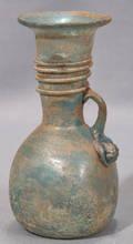 121552 ROMAN BLOWN GLASS VASE H 7