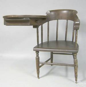 Firehouse writing arm windsor chair