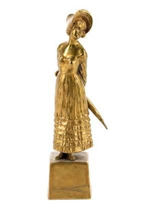 Peter Tereszczuk Gilt Bronze Figural Sculpture