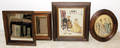 1519 VICTORIAN WALNUT SMALL FRAMES TWO WITH MIRRORS