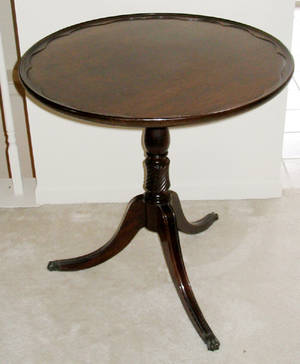 1516 FEDERAL STYLE MAHOGANY ROUND TABLE BY BRANDT CIR