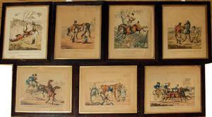 1535 H ALKEN ETCHINGS GROUP OF 7 PUB BY MCLEAN 1827 H