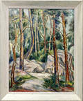 22082 MILDRED EMERSON WILLIAMS OIL ON CANVAS FOREST