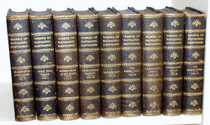 021616 NATHANIEL HAWTHORNE LEATHER BINDINGS 9 VOLUMES