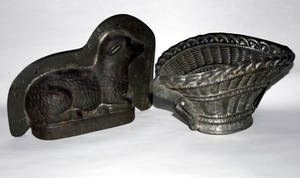 021600 AMERICAN TIN MOLDS 19TH CENTURY TWO L 7 12
