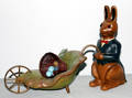 121629 LIMITED EDITION CARVED WOOD RABBIT CONTEMPORAR