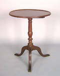 Pennsylvania walnut candlestand early 19th c
