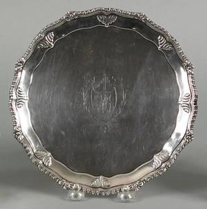 Philadelphia silver salver ca 1780
