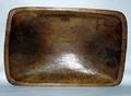 1574 AMERICAN CARVED WOOD BOWL L 16 D 10 12