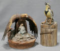 0563 BISQUE FIGURINES MEADOW LARK AND GOLDEN EAGLE
