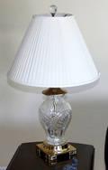 0553 ETHAN ALLEN CRYSTAL  BRASS LAMP