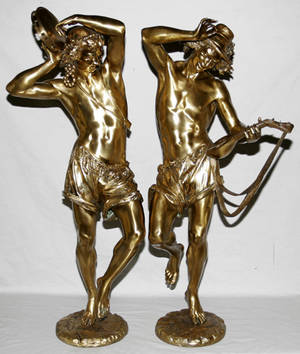 22031 A CARRIER BELLEUSE BRONZE DANCING FIGURES C