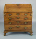 New Jersey Chippendale cherry slant front desk late 18th c