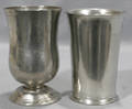 121661 PEWTER BEAKER BY I TRASK 5 AND FOOTED BEAKER