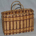 1633 AMERICAN CHEROKEE WHITE OAK PURSE BASKET H 13 1