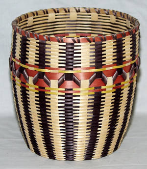 1616 NATIVE AMERICAN BASKET MICHIGAN WOODLANDS TRAVE