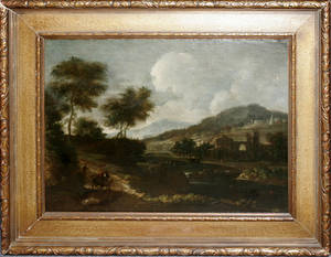 22012 FRENCH SCHOOL OIL ON CANVAS 17TH18TH C 19 1