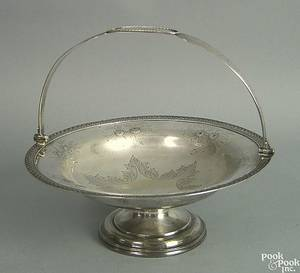 Philadelphia silver basket 19th c