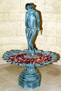 122042 BRONZE GARDEN FOUNTAIN H 62 X W 41 NUDE WIT