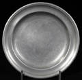 121026 AMERICAN PEWTER PLATE ANTIQUE DIA 8 12