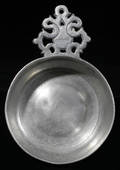 121025 AMERICAN PEWTER PORRINGER BY THE BOARDMANS TD