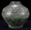 113001 CHINESE GLAZED EARTHENWARE JAR HAN DYNASTY H
