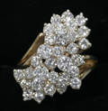 2059 CLUSTER STYLE 27 CTS DIAMONDS AND 14 KT GOLD R