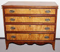 1017 AMERICAN SHERATON CHERRY  SATINWOOD CHEST OF FOU