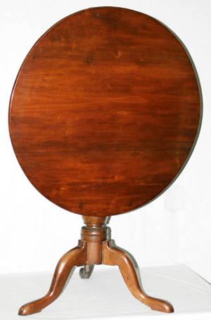 1057 AMERICAN MAHOGANY TILTTOP TABLE H 30 DIA 33