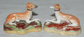 0010 ENGLISH STAFFORDSHIRE POTTERY FIGURES OF RECLININ
