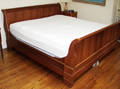0055 CHERRY KING SIZE SLEIGH BED H 41 L 80
