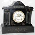 051080 ANSONIA BLACK MARBLE 8DAY MANTEL CLOCK