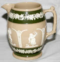 031097 W T COPELAND ENGLISH EARTHENWARE PITCHER