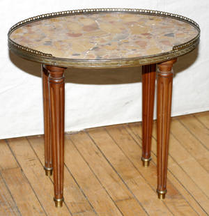 071076 FRENCH LOUIS XVI STYLE WALNUT TABLE