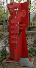061073 JAY LEFKOWICZ METAL ABSTRACT SCULPTURE