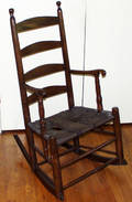 071107 AMERICAN SHAKER HICKORY ROCKING CHAIR
