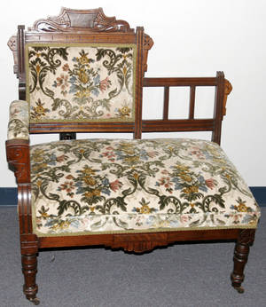 081103 EASTLAKE WALNUT SETTEE