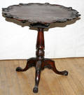 081157 MAHOGANY CHIPPENDALE STYLE PEDESTAL TABLE