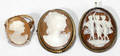 081135 GOLD FILLED CAMEO PENDANTS  RING