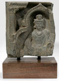 062074 GANDHARA N INDIA FRAGMENT HEAD OF BUDDHA